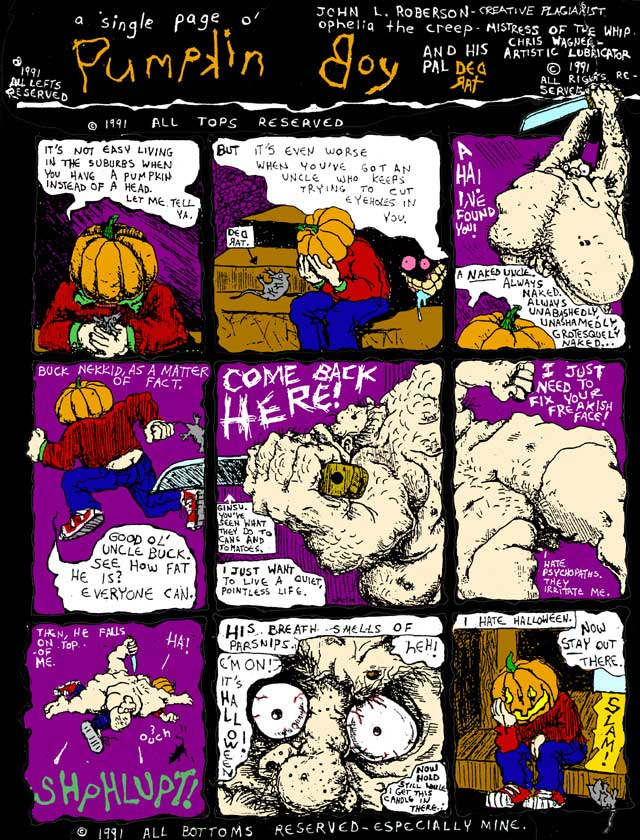 pumpkin boy by John Linton Roberson & Emily Kaplan (c)1991